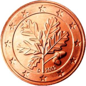 рисунок на немецких евро монетах