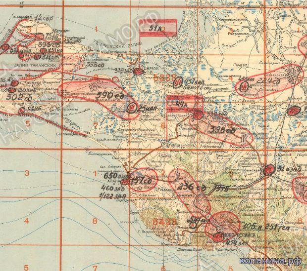 Военные карта ркка Тамань, Керчь, Одесса, Севастополь скачать