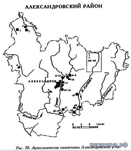 Археологическая карта Владимирской области скачать