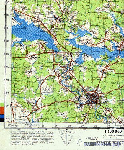 карта москвы и области генштаб 1:100000