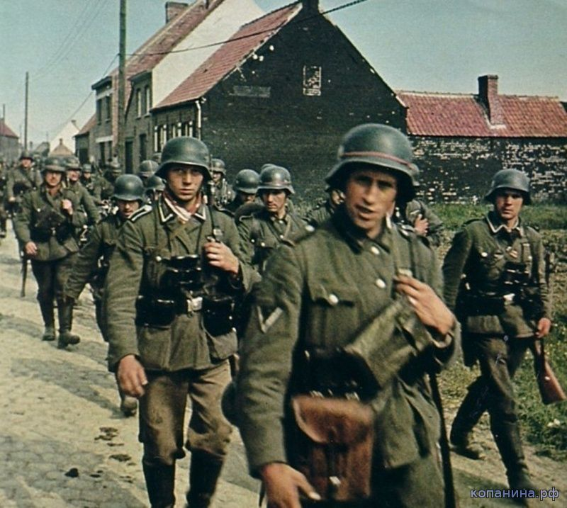 цветные фотографии немецких солдат