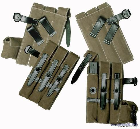 подсумки к немецким пистолет-пулеметам мп38, мп40