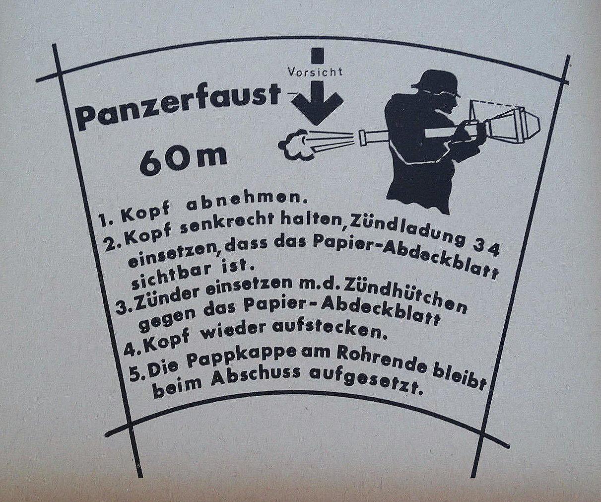 наклейка для панцерфауст