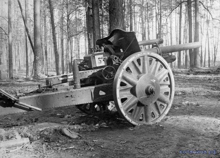 Немецкое орудие в лесу под Киевом