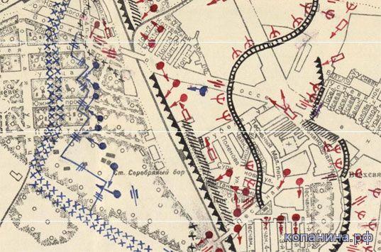 карта схема московского укрепрайона