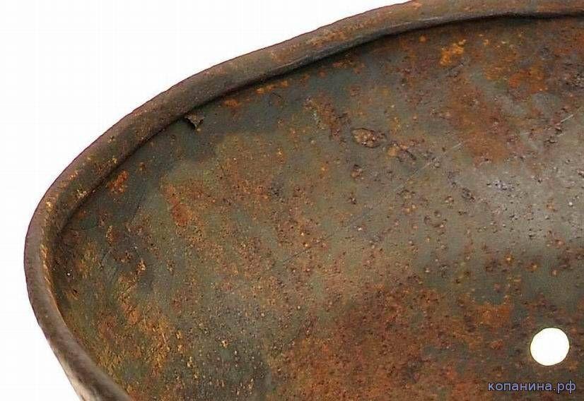 завальцовка на стальном шлеме