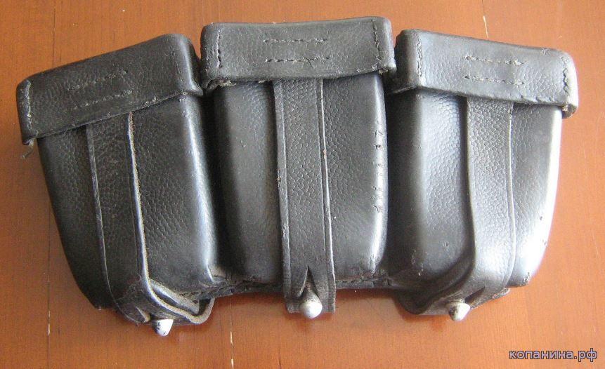 кожаные подсумки к немецкому карабину маузер