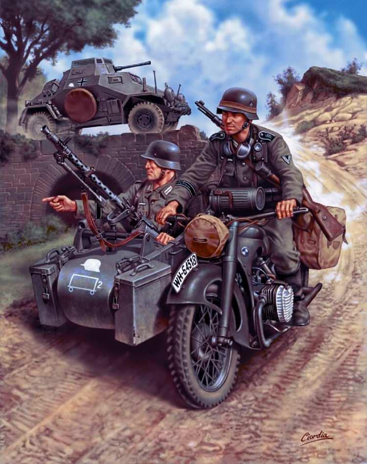 Мотоциклетный секрет походный жандармерии
