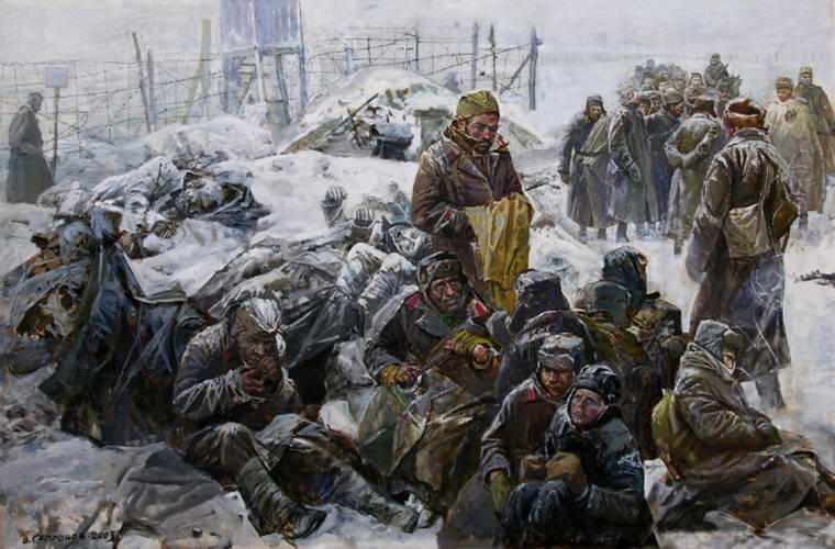 В немецком лагере в целях военнопленных