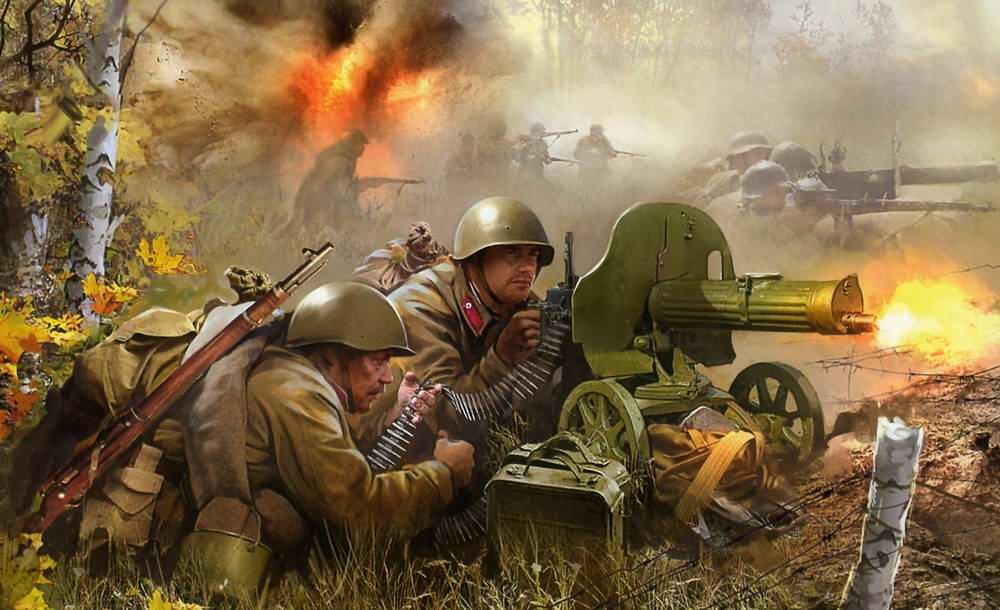 Русские пулеметчики