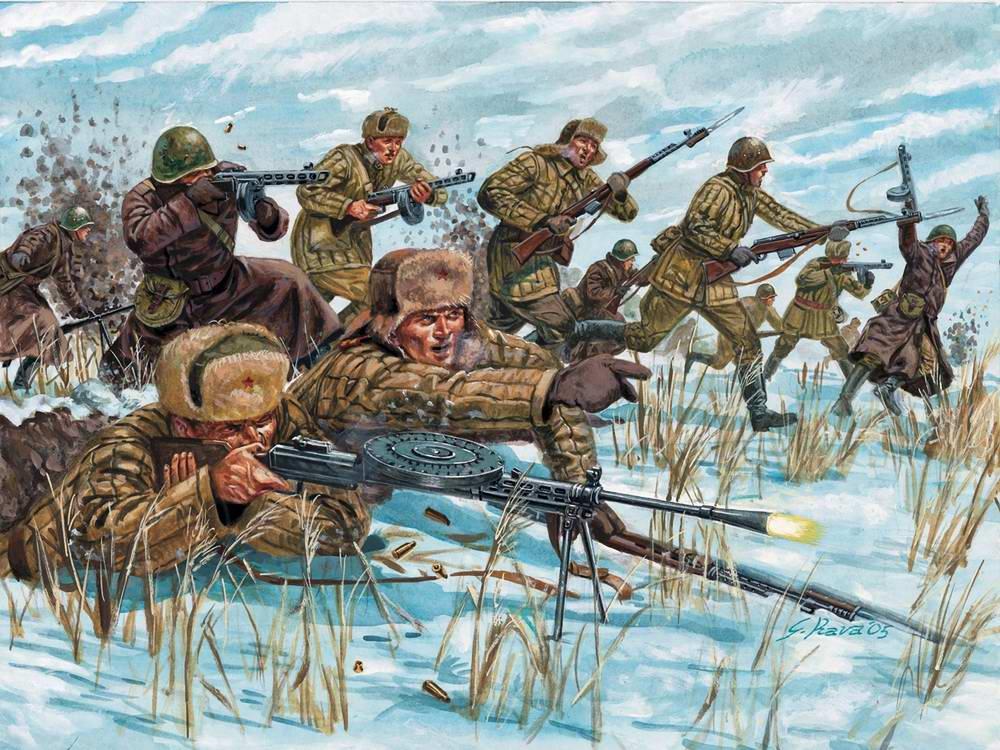Русская пехтура атакует