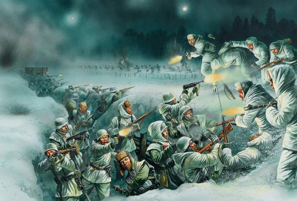 Ночная приступ получи немецкие позиции лещадь Демьянском