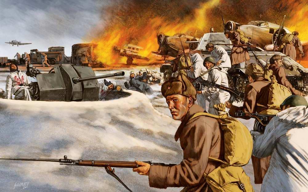 Захват немецкого аэродрома во Тацинской