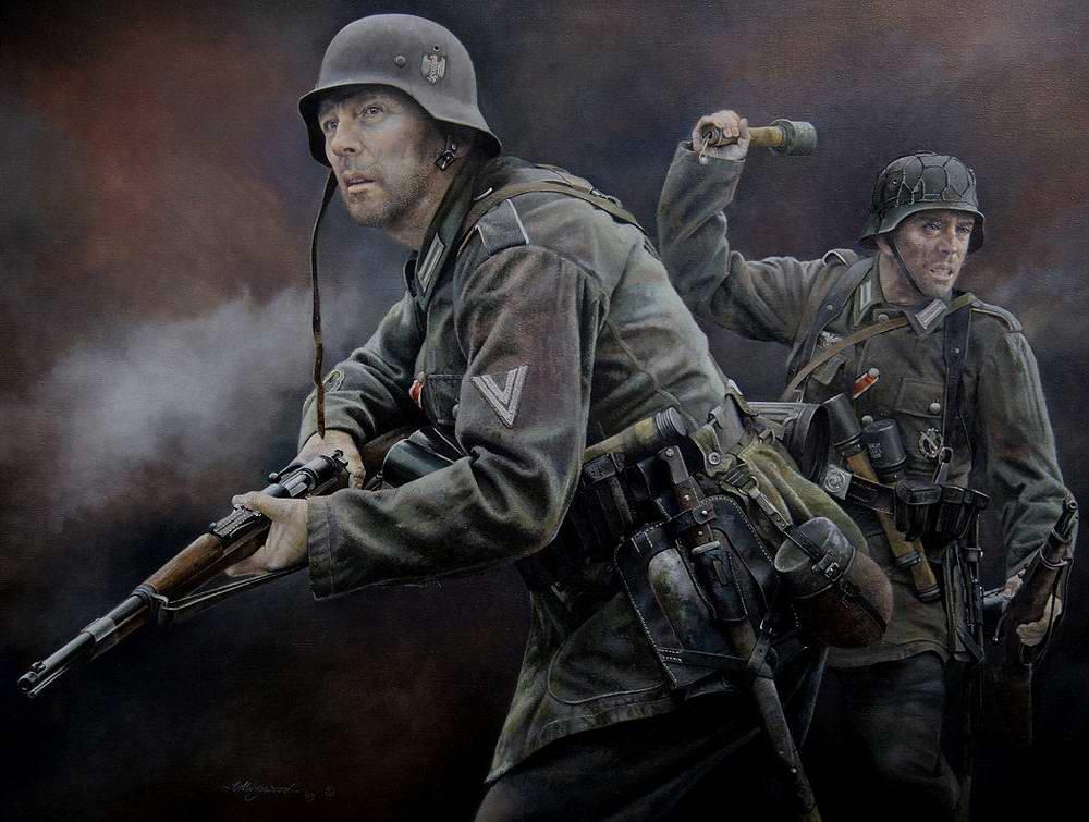 Пехотинцы Вермахта на бою