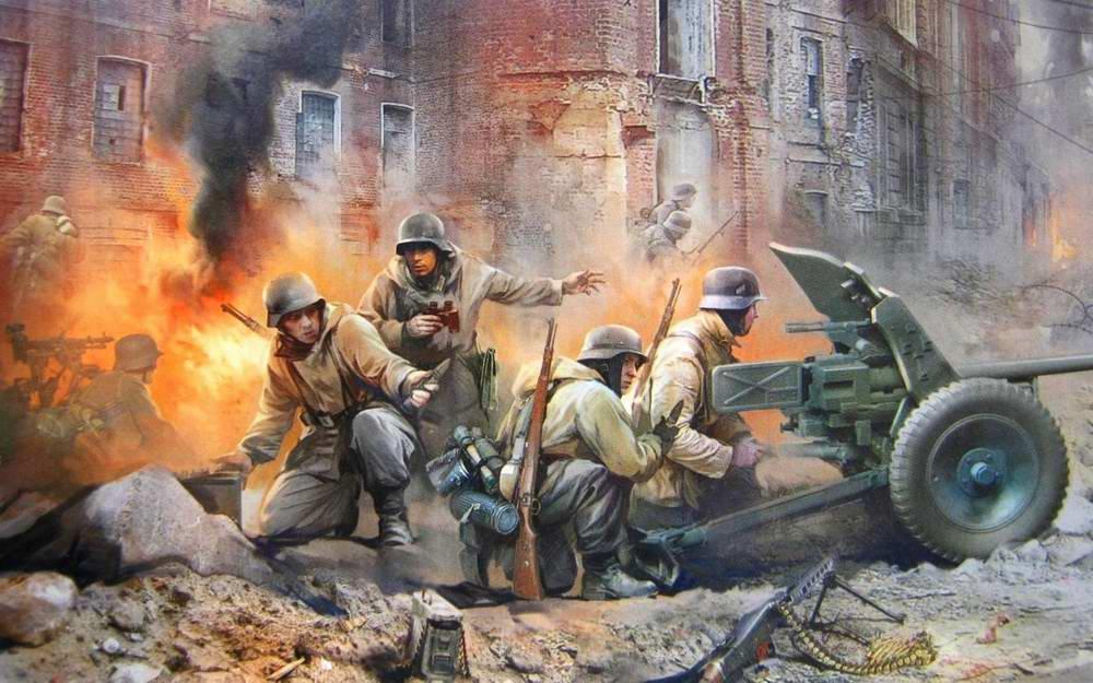 Немецкие артиллеристы от пушкой Panzerabwerkanone-36