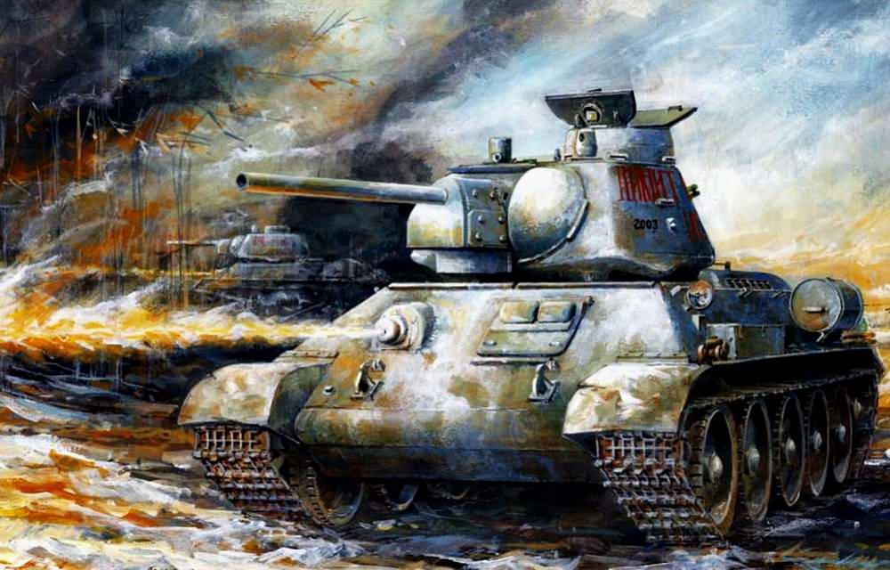Т-34 идут на атаку