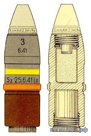 Осколочный снаряд PAk 3.7cm