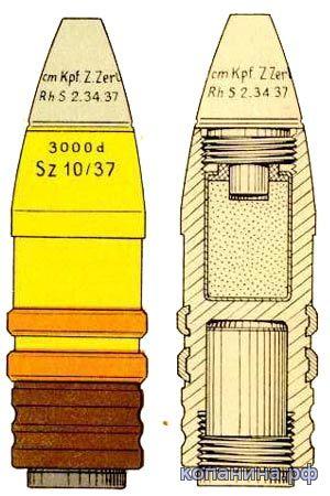Осколочный снаряд PAK 3.7