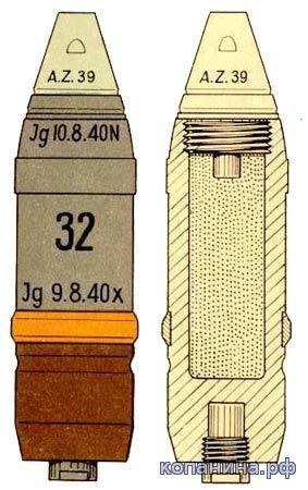 немецкий снаряд PAk 3.7cm sprgr 40