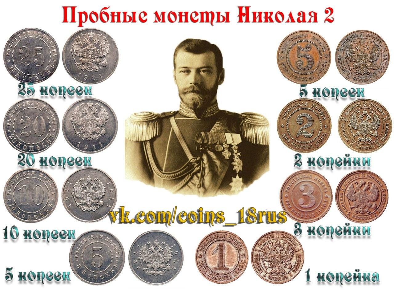 Пробные монеты Николая Второго