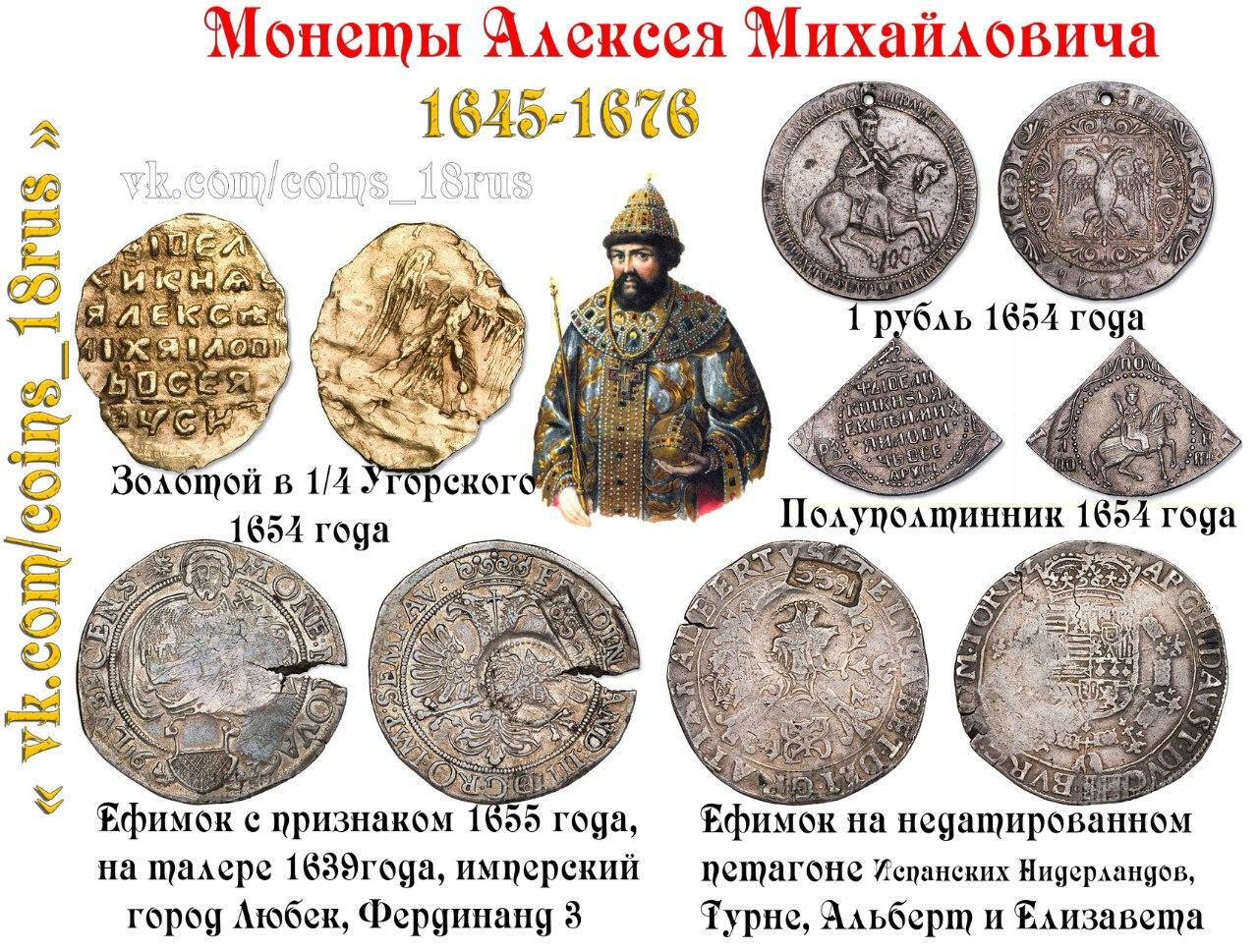 Монеты Алексея Михайловича