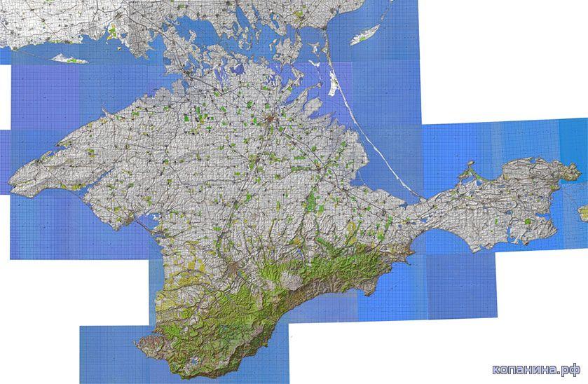 карта крыма генштаб километровка скачать