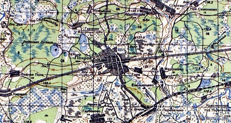 старая карта владимирской области