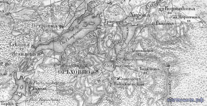 карта новгородской губернии