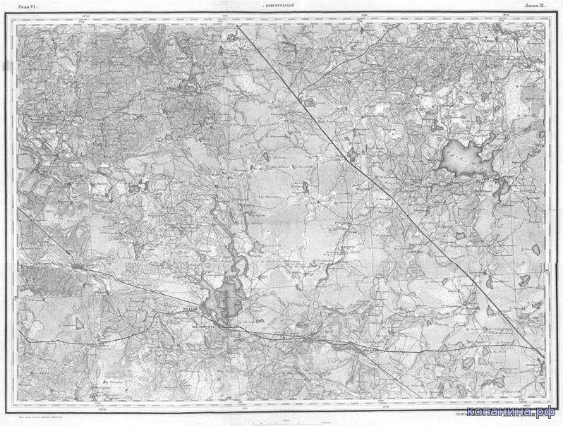 старинная карта менде новгородской губернии