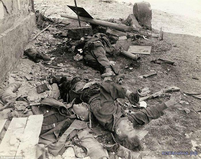 погибшие немецкие солдаты сс с панцершреком