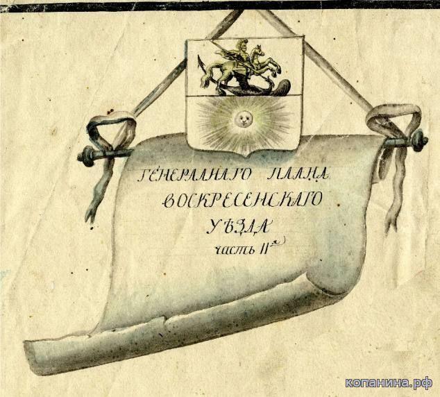 старинные карты московской губернии