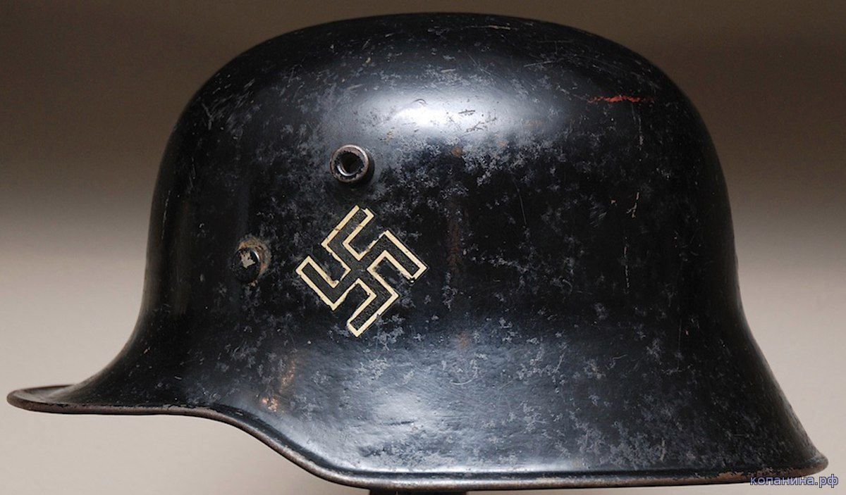 первые рогатые шлемы сс м16 м18