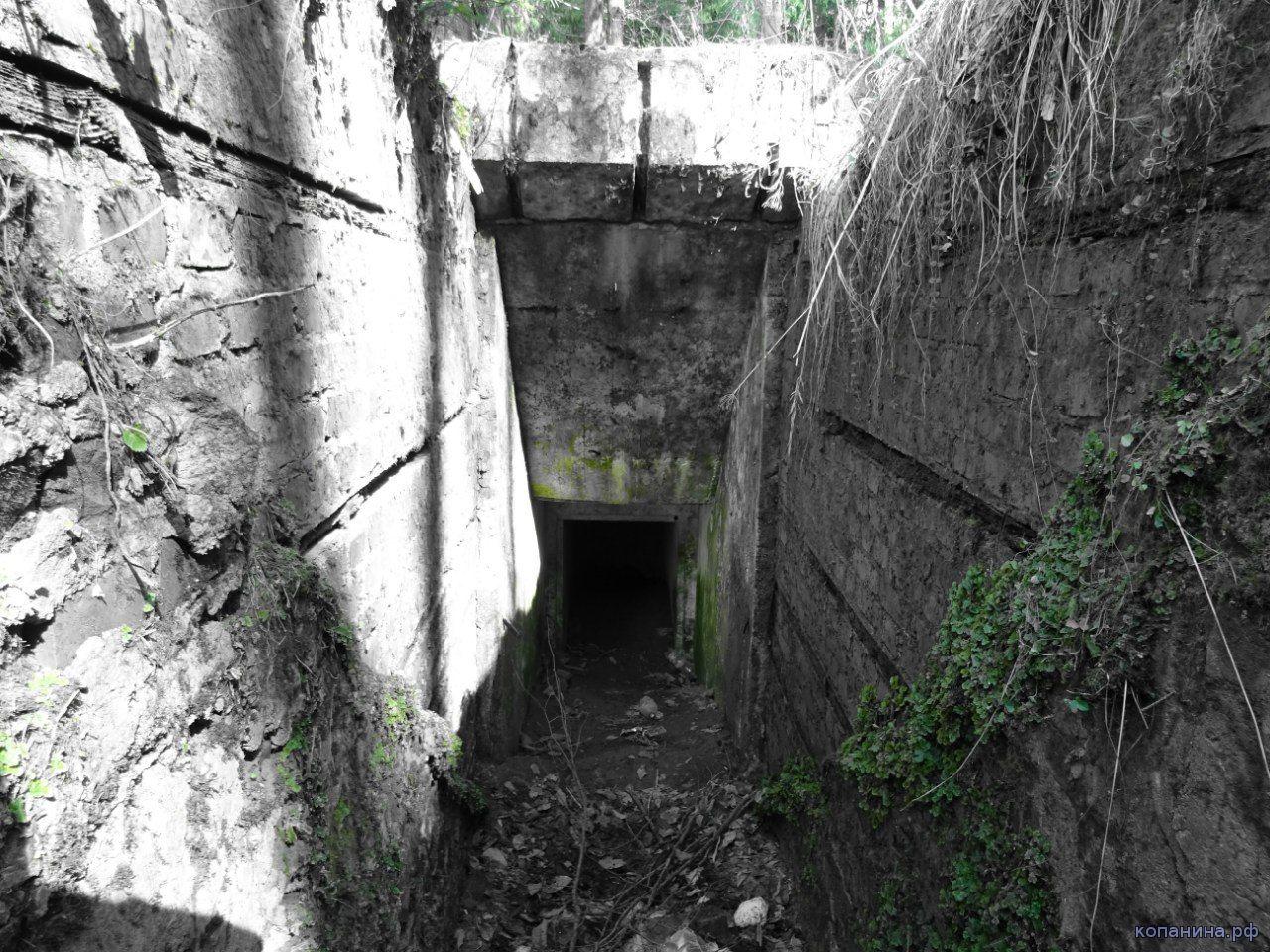 вход в немецкий бункер