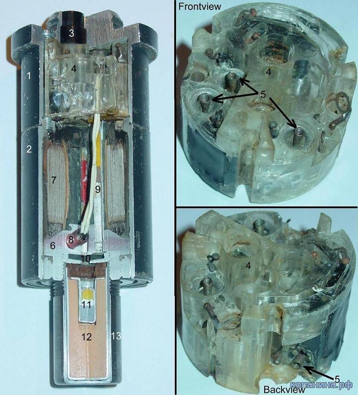 устройство взрывателя немецких авиабомб
