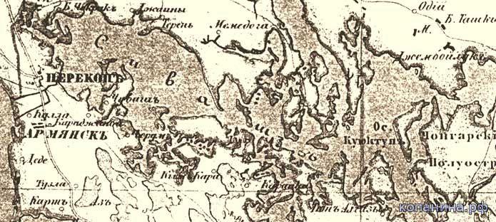 старинные карты - крым, таврический полуостров