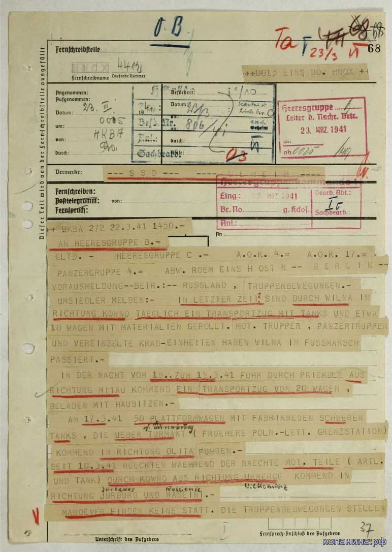 Трофейные документы немецкой армии