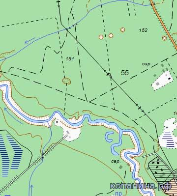 карта 1:25000 в 1см 250 метров 1940 генштаб