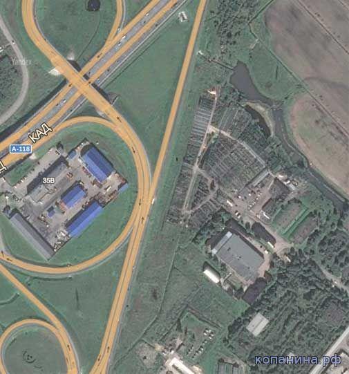 спутниковая карта ПСанкт-Петербурга с привязкой ОЗИ спутник