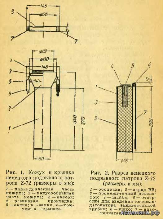 немецкий подрывной патрон для орудийных стволов