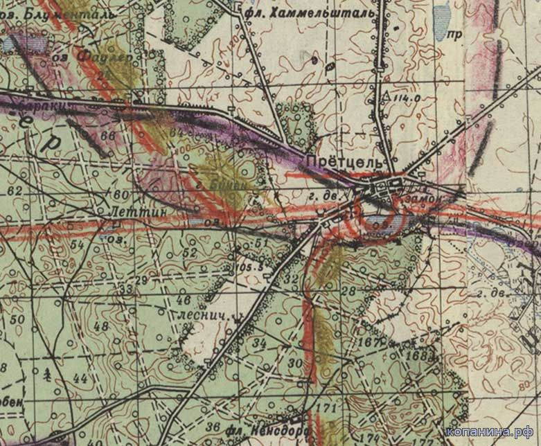 военные карты 1-го Белорусского фронта