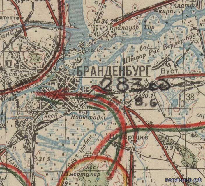 военные архивные карты 1941 1945