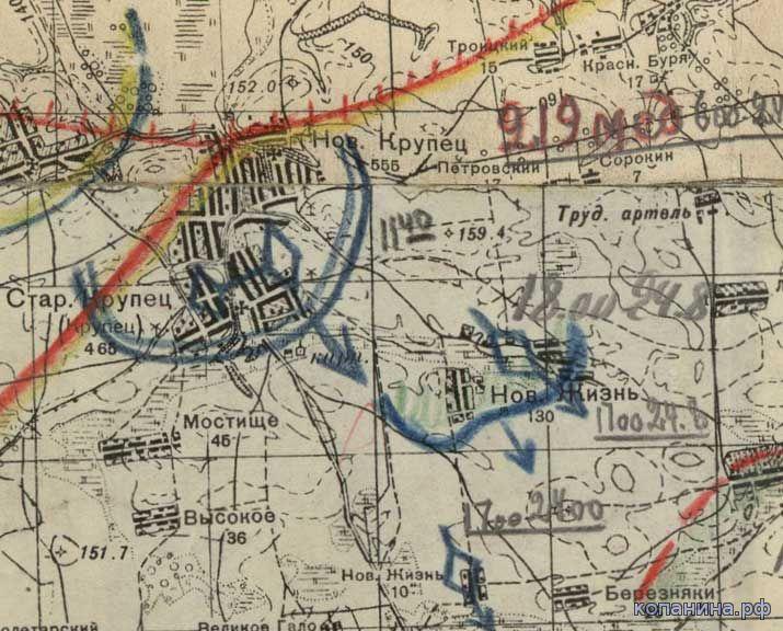 архивные карты 1941 схема боев