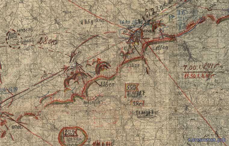 карты центрального фронта 1941