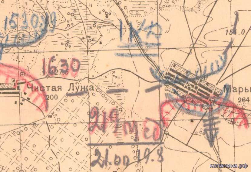 карты великой отечественной войны 1941 год цамо