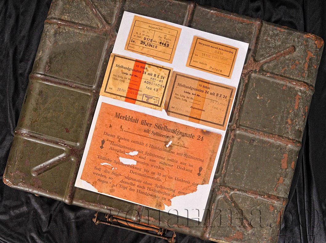 ящик немецких гранат м24