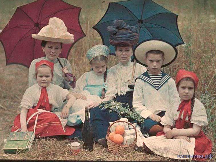 старинные цветные фотографии России