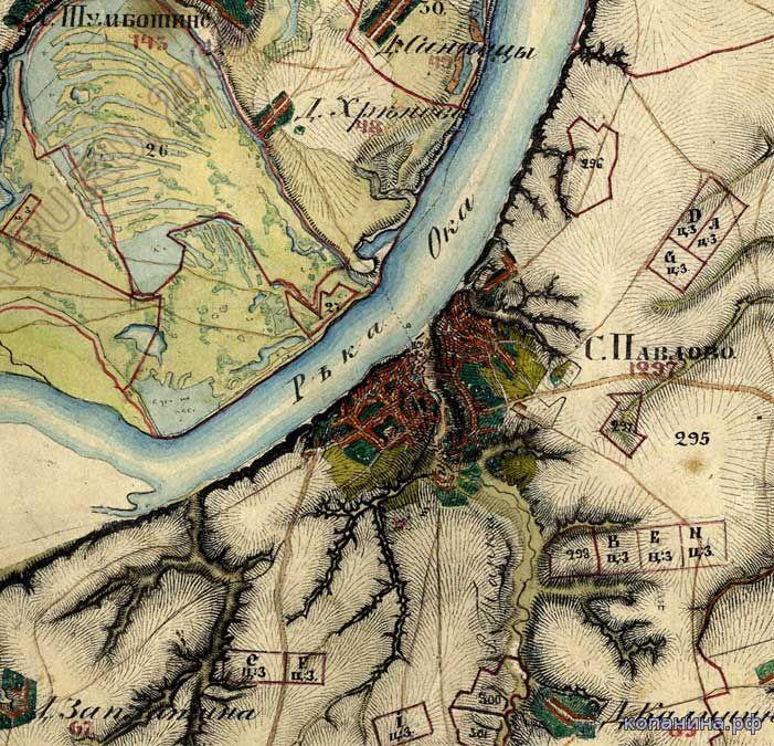 старинная карта нижегородской губернии