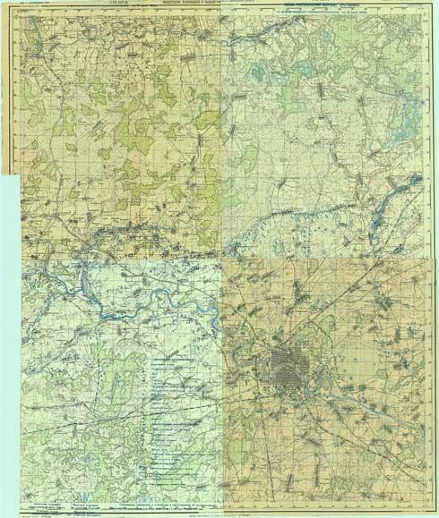 карта немецкая военная карта