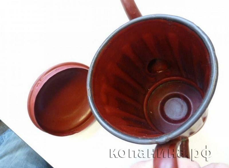 Чайник из противогазного бака