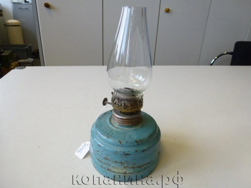 Керосиновая лампа из немецкого противогазного фильтра